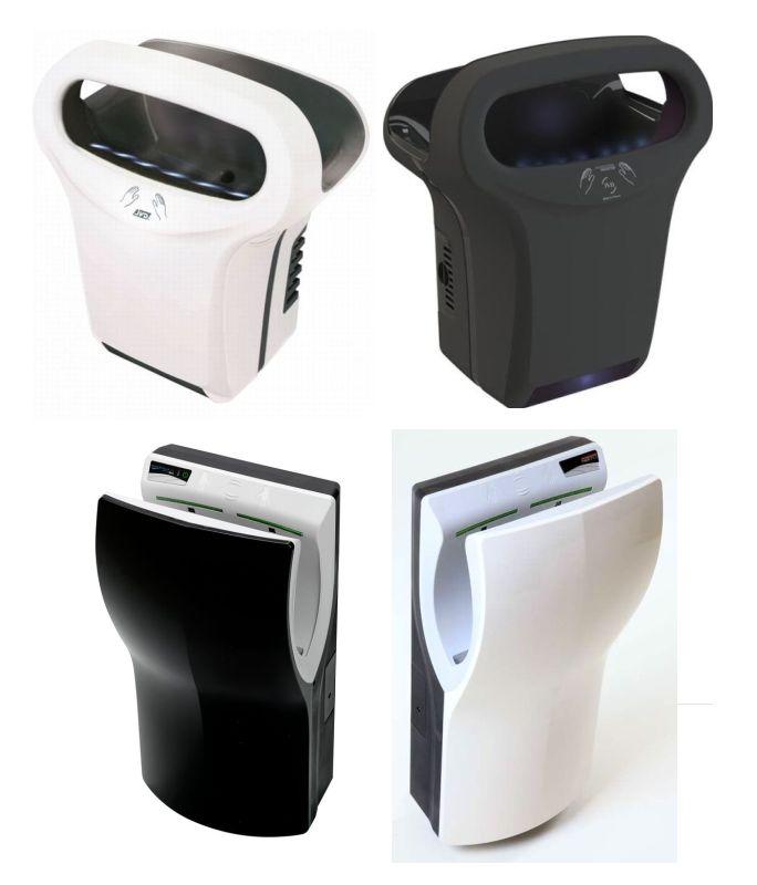 Handdroger-Zwart-en-Handendroger-Wit