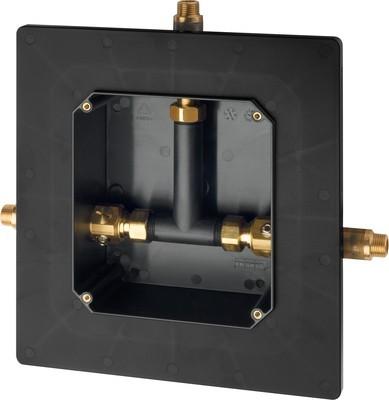 Franke ruwbouwset met lijmflens voor zelfsluitende thermostaat voor wandinbouw Franke GmbH Variante:Fertigbauset AQRM698,AQCT0063