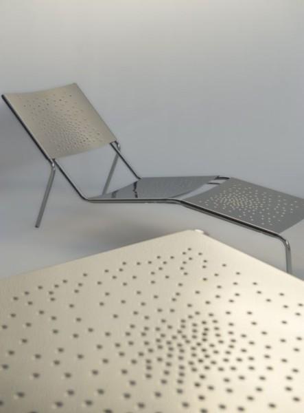 Ligstoel van Graepel Tempesta - Comfortabele RVS 1.4016 ligstoel voor binnen Graepel Tempesta K00042680