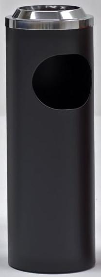 Graepel G-Line Pro BORMIO staande asbak gemaakt van zwart gelakt staal, italiaans design G-line Pro K00031912