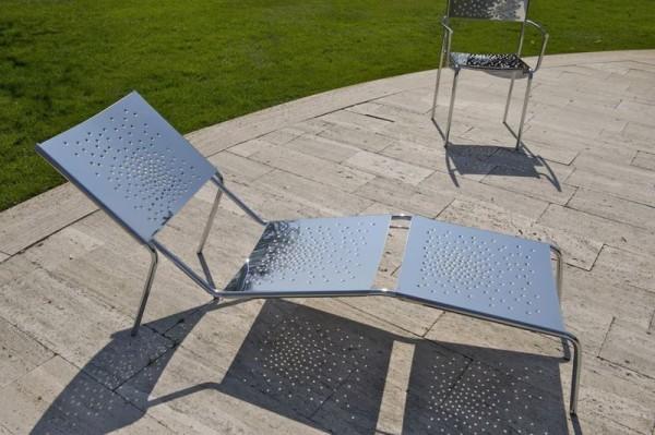 Graepel Tempesta ligstoel voor buiten - RVS 1.4016 roestvrij Graepel Tempesta K00042688