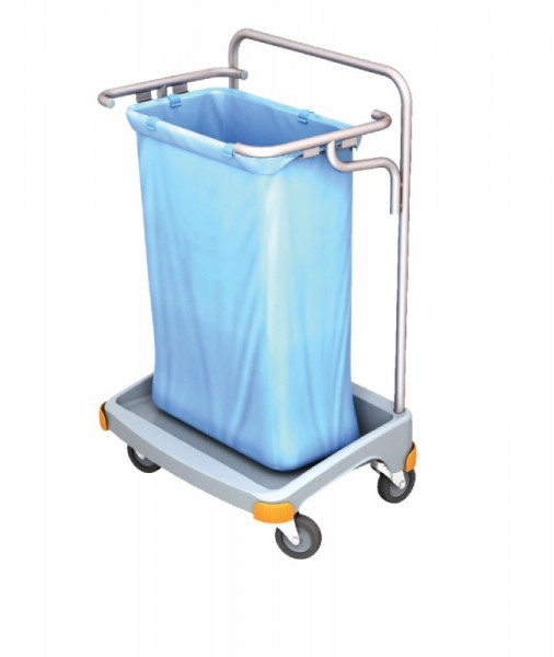 Splast enkele plastic afval trolley 120l - verkrijgbaar met of zonder deksel Splast TSO-0001,TSO-0002