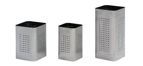 Graepel G-Line Pro QBIN design prullenbak van geborsteld roestvrij staal, 3 verschillende maten G-line Pro K00021291,K00021293,K00021295