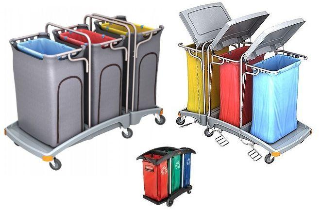 Afvalverzamelwagen-drievoudig