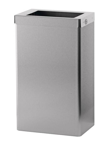 Open RVS vuilnisbak 22L met uitneembaar frame Ophardt Hygiene SanTRAL EBU - 1413894,1413893,1413896,1413895