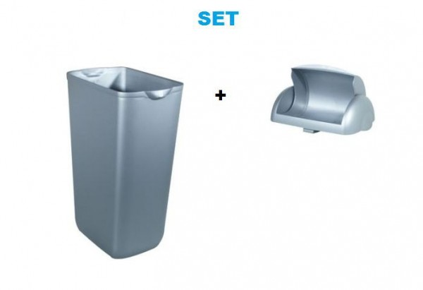 Plastic waste bins 23L MP 742 - with folding lid for women's hygiene set Marplast Marplast S.p.A. MP742,748