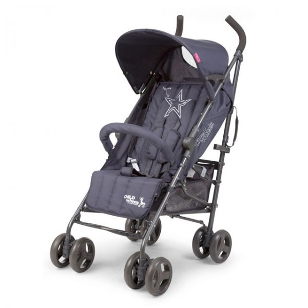 Childwheels Anthraciet multi pos buggy superstar CWB5SUP Childhome CWB5SUP