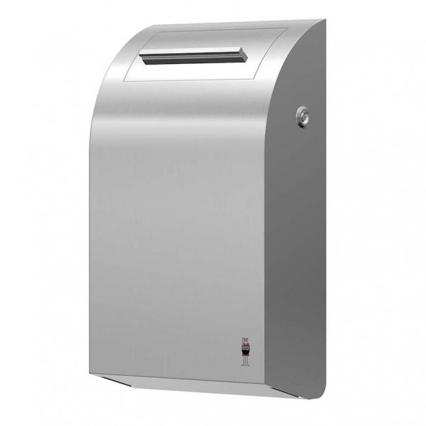 Waste bin made of brushed stainless steel with inner bucket from Dan Dryer Dan Dryer A/S 283