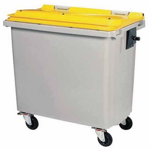 Rossignol vuilnisbak met 4 wielen, conform aan de EN-840 1-6 norm Rossignol 56641,56642,56643,56651,56652,56653