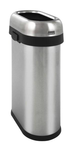 Simplehuman Slim Open Bin roestvrijstaal afvalbak 50 liter Simplehuman 10013442