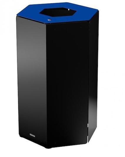 Hexatri prullenbak 50 liter met slot met binnenemmer voor binnen en buiten gebruik Rossignol 58342,58343,58344,58345,58346