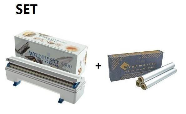 SET effici'nte Wrapmaster WM4500 dispenser en Wrapmaster aluminiumfolie 4500 Wrapmaster 63M91,23C89