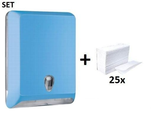 Kunststoff papierhanddoek dispenser MP830 + papierhanddoeken Colored Edition SET Marplast Marplast S.p.A. MP830,10102