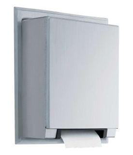 Bobrick automatische RvS papierrol dispenser semi-verzonken installatie Bobrick B-29744