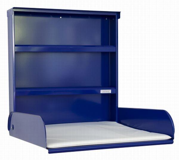 Babytafel metaal opklapbaar + opbergsysteem + verschoonmatras - Design Gekleurd ByBo Design 10225-10222