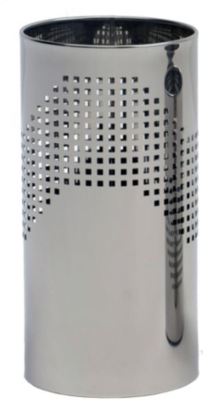Graepel design prullenbak, geperforeerd en gemaakt van gepolijst roestvrij staal G-line Pro K00016610,K00016630,K00016650