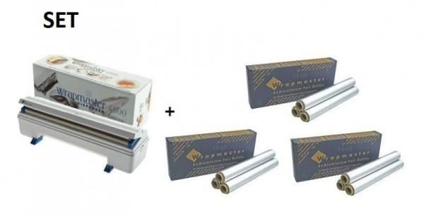 SET Wrapmaster WM4500 en 3 Dozen aluminumfolie met geteste legering nummer Wrapmaster 63M91,3x23C89