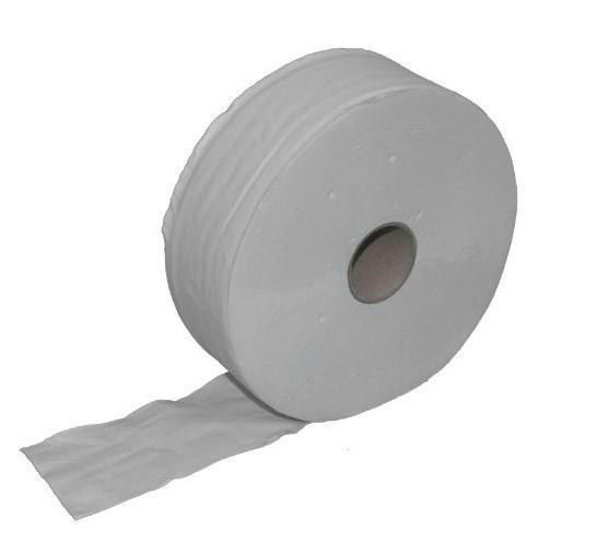 Maxi Jumbo toiletpapier 6 rollen - 300m-2 laags - recycling-wit 22207