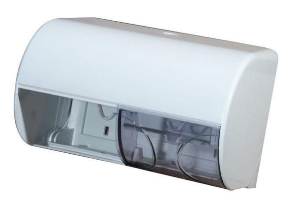 Marplast dubbel toiletpapier dispenser gemaakt van kunststof wit of satijn Marplast S.p.A. A755