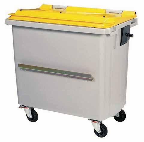 Rossignol Korok grijze polyethyleen afvalcontainer in 2 verschillende maten verkrijgbaar Rossignol 56646,56647,56648,56656,56657,56658