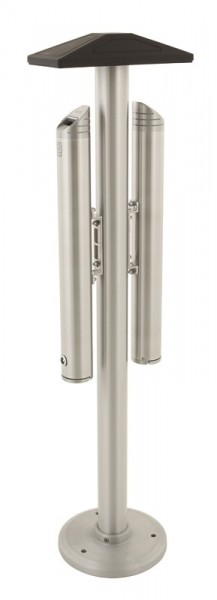 Vrijstaande dubbele asbakpaal aluminium 31659951